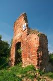 Ruïnes van het kasteel van Brandenburg in Ushakovo Stock Afbeeldingen