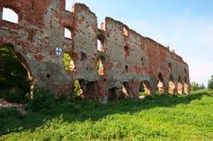 Ruïnes van het kasteel van Brandenburg in Ushakovo Royalty-vrije Stock Fotografie