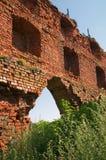 Ruïnes van het kasteel van Brandenburg in Ushakovo Stock Foto's