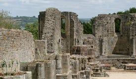 Ruïnes van het klooster van Landévennec Stock Foto's