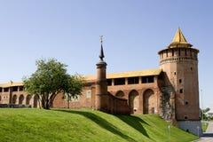 Ruïnes van het Kremlin in kolomnastad Rusland royalty-vrije stock fotografie
