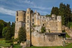 Ruïnes van het middeleeuwse Beaufort-kasteel royalty-vrije stock foto's