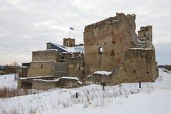 Ruïnes van het middeleeuwse kasteel van de Livonian-ridderorde Rakvere, Estland royalty-vrije stock foto