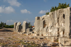 Ruïnes van het oude Aphrodite-heiligdom in Kouklia stock foto's