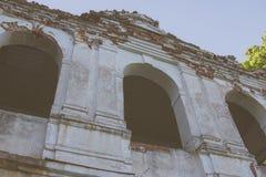 Ruïnes van het oude baksteenhuis van Tomasz Wawzecki Vidzydorp Stock Afbeelding