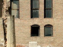 Ruïnes van het Oude Hof van Boekarest Stock Foto