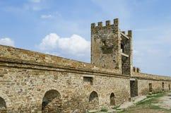 Ruïnes van het oude kasteel Royalty-vrije Stock Foto's