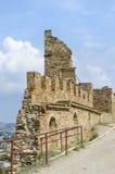 Ruïnes van het oude kasteel Royalty-vrije Stock Foto