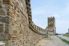 Ruïnes van het oude kasteel Stock Fotografie