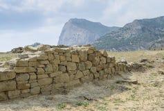 Ruïnes van het oude kasteel Stock Afbeelding