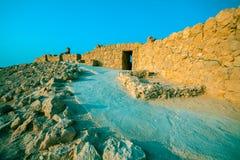 Ruïnes van het paleis van KoningsHerod ` s in Judaean-Woestijn stock afbeeldingen