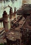 Ruïnes van het paleis van thanjavurmaratha Stock Foto