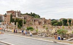 Ruïnes van het Roman Forum Stock Fotografie
