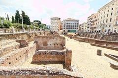 Ruïnes van het roman forum, Rome, Stock Fotografie