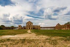 Ruïnes van het Ruzhansky-kasteel, het gebied van Brest, Wit-Rusland royalty-vrije stock afbeeldingen