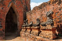 Ruïnes van het Standbeeld van Boedha Royalty-vrije Stock Afbeelding