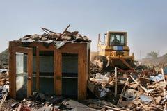 Ruïnes van het vernietigde huis Royalty-vrije Stock Foto