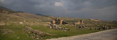 Ruïnes van Hierapolis stock foto