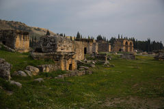 Ruïnes van Hierapolis royalty-vrije stock afbeelding