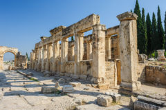 Ruïnes van Hierapolis, nu Pamukkale Royalty-vrije Stock Afbeelding