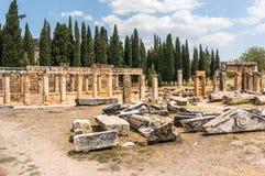 Ruïnes van Hierapolis, oude stad Royalty-vrije Stock Foto