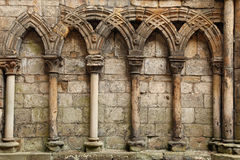 Ruïnes van Holyrood-Abdij, Edinburgh Royalty-vrije Stock Fotografie