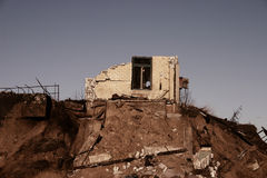 Ruïnes van huis stock fotografie