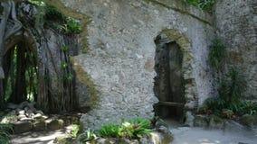 Ruïnes van kapel van Sintra stock videobeelden