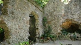 Ruïnes van kapel van Sintra stock footage