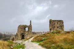 Ruïnes van kasteel Royalty-vrije Stock Afbeelding