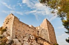 Ruïnes van kasteel Ajlun Stock Foto's