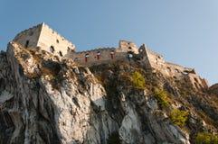 Ruïnes van Kasteel Beckov Royalty-vrije Stock Foto