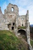 Ruïnes van kasteel Hrusov royalty-vrije stock foto's