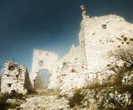 Ruïnes van kasteel plavecky hrad Royalty-vrije Stock Afbeelding