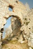 Ruïnes van kasteel plavecky hrad Royalty-vrije Stock Fotografie