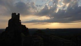 Ruïnes van kasteel Trosky Royalty-vrije Stock Afbeeldingen