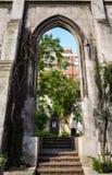 Ruïnes van kerk Royalty-vrije Stock Afbeeldingen