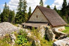 Ruïnes van klooster Klastorisko Royalty-vrije Stock Foto's
