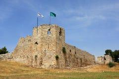 Ruïnes van kruisvaarderskasteel Royalty-vrije Stock Foto's