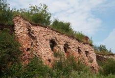 Ruïnes van kwarten in oude vesting Royalty-vrije Stock Afbeeldingen