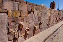 Ruïnes van La Paz van Tiwanaku Bolivië Stock Foto