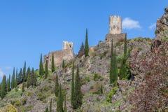 Ruïnes van Lastrous-kasteel Stock Foto's