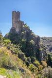 Ruïnes van Lastrous-kasteel Stock Afbeelding