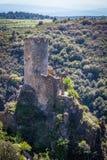 Ruïnes van Lastrous-kasteel Royalty-vrije Stock Afbeeldingen