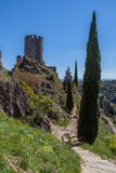 Ruïnes van Lastrous-kasteel Stock Afbeeldingen