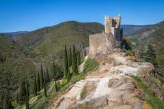 Ruïnes van Lastrous-kasteel Royalty-vrije Stock Foto's