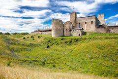 Ruïnes van Livonian-Ordekasteel Rakvere, Estland, Baltische Staten, Stock Foto's