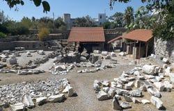 Ruïnes van Mausoleum Halicarnassus in Turkije Royalty-vrije Stock Foto's