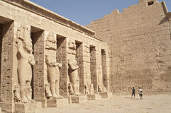 Ruïnes van Medinet Habu, Luxor, Egypte. Stock Afbeelding