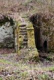 Ruïnes van Molen in de Rots worden gesneden die stock fotografie